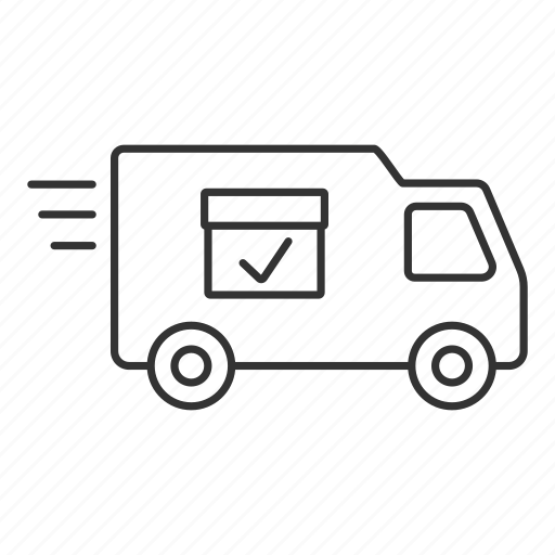 car, cargo, delivery, shipping, truck, van, vehicle icon
