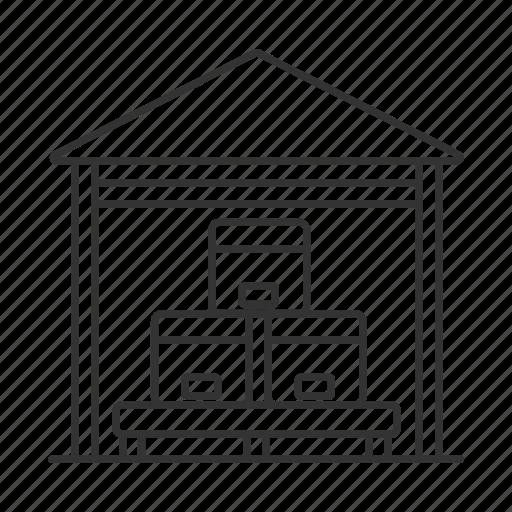 box, logistics, package, parcel, storage, storehouse, warehouse icon