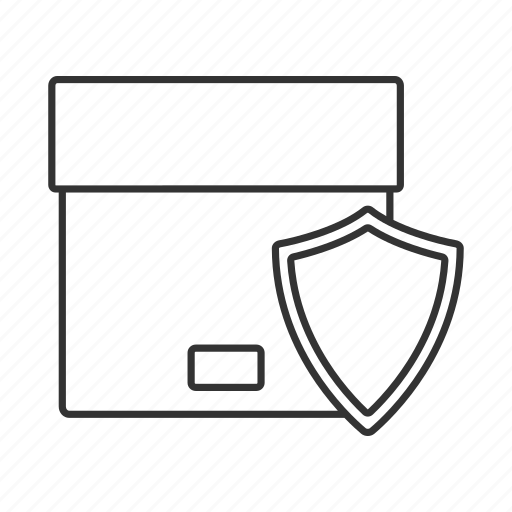 box, cargo, delivery, protection, safe, shield, shipping icon