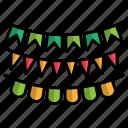 carnival, decoration, festival icon