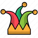carnival, circus, clown, festival, hat icon