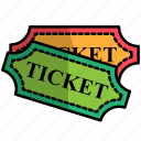 carnival, circus, festival, ticket icon
