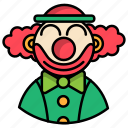 carnival, circus, clown, festival icon