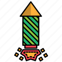 carnival, festival, fire works, firecracker icon