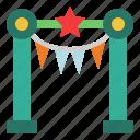 amusement, gate, entrance, carnival, fair, entertainment