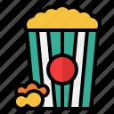 popcorn, food, and, restaurant, cinema, snack, movie