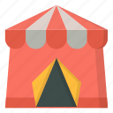 amusement, carnival, circus, fort, tent icon