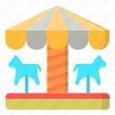 amusement, carnival, carousel, horse, ride icon