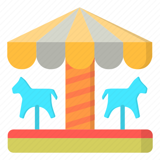amusement, carnival, carousel, horse, ride icon