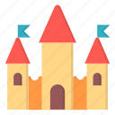 amusement, carnival, castle, fort icon
