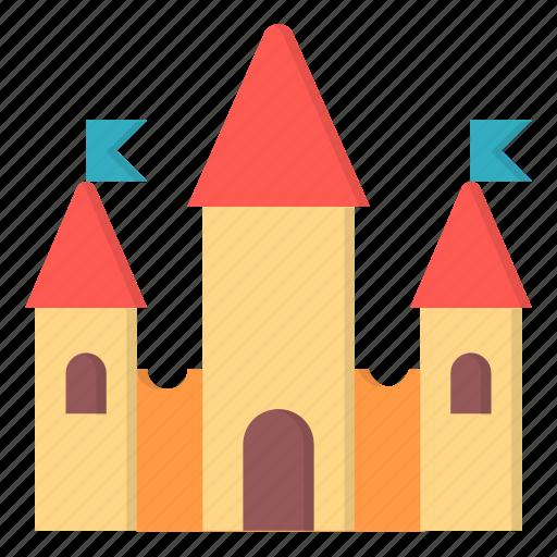 amusement, carnival, castle, fort icon