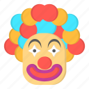 amusement, carnival, clown icon