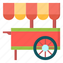 amusement, carnival, cart, food icon