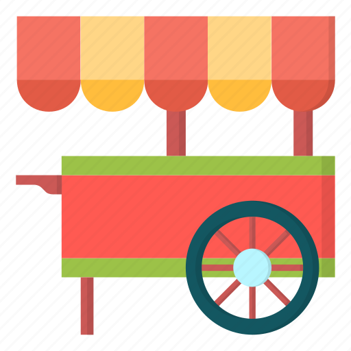amusement, carnival, cart, food icon