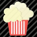 amusement, carnival, popcorn icon