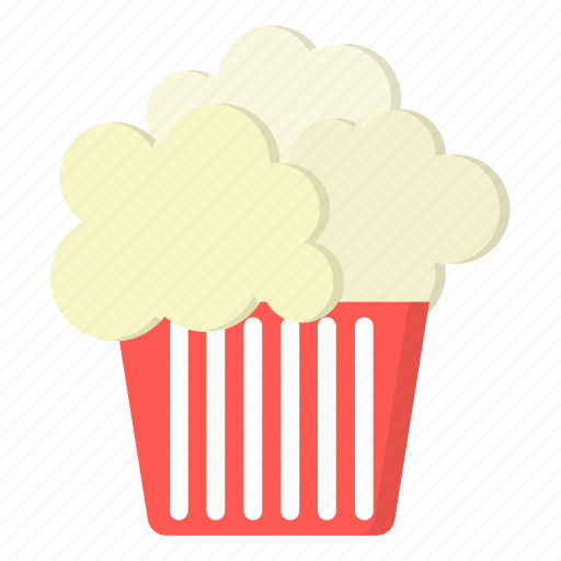 amusement, carnival, popcorn icon