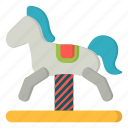 amusement, carnival, chair, horse, horse ride, rocking icon