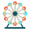 amusement, carnival, giant wheel, skywheel icon