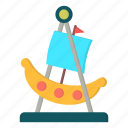 amusement, boat, carnival, swing icon