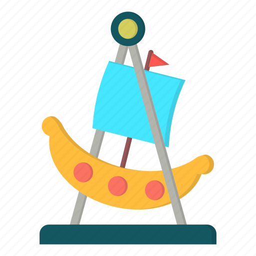 amusement, boat, carnival, swing icon
