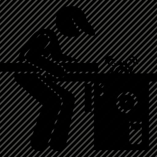 Carpenter, electrical, factory, machine, saw, workshop icon