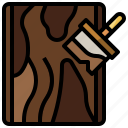 board, brush, building, construction, paint, tools, wood icon
