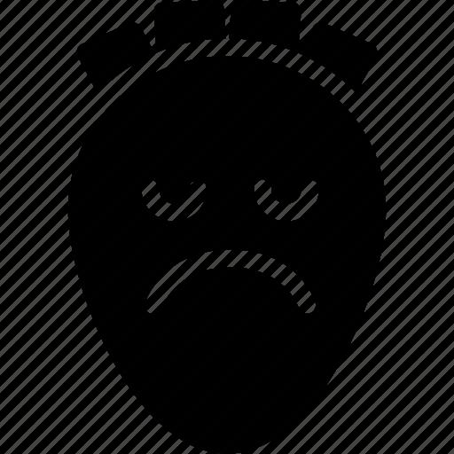 emoji, emotion, expression, face, feeling, sad icon