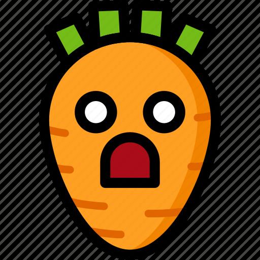 Emotion, shocked, face, feeling, expression, emoji icon