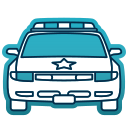 auto, car, crime, law, police, security icon