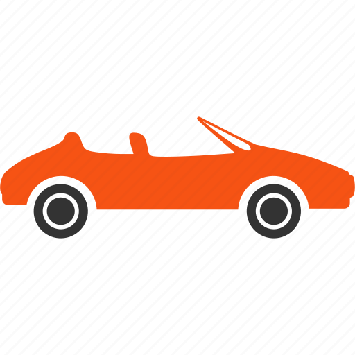 auto, automobile, cabrio, cabriolet, hipster transport, red car, transportation icon