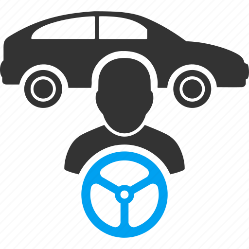 automobile owner, car driver, drive, rule, steering wheel, taxi owner, travel icon