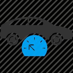 car, gauge, measure, measurement, meter, speed control, speedometer icon