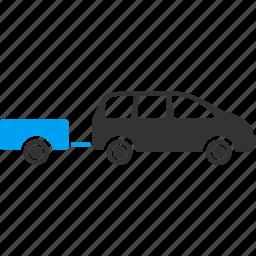car trailer, caravan, transport, transportation, travel, vacation, vehicle icon