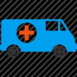 ambulance car, clinic, emergency, hospital van, medicine, rescue, transport icon