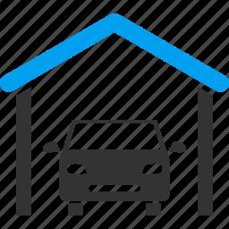 auto service, automobile, building, car garage, garage, vehicle, workshop icon