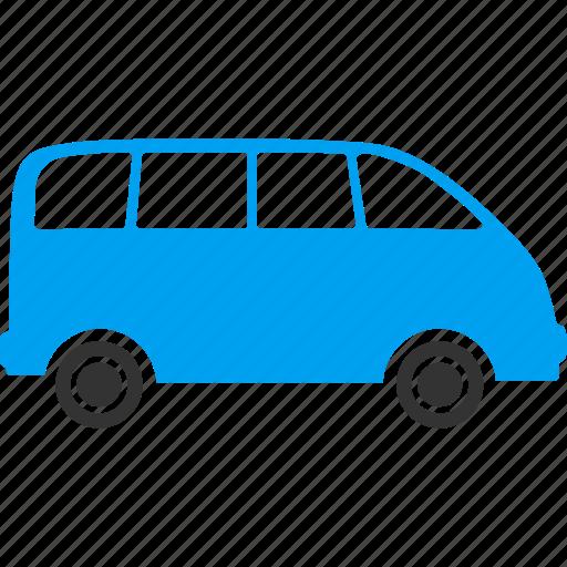 auto, car, minibus, minivan, tourist bus, transfer, transportation icon