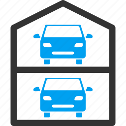 auto, automobile, level, multi store car park, parking, store, vehicle icon