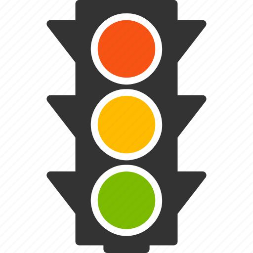 control, intersection, lamp, regulate, road signs, semaphore, traffic lights on icon