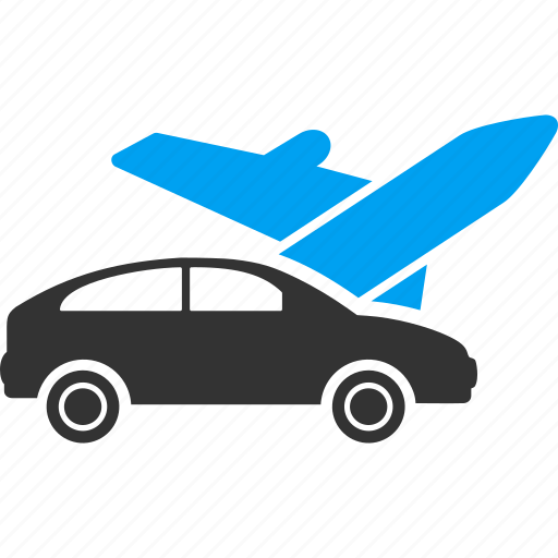 airplane, car, shipping, transport, transportation, travel, trip icon