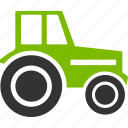 agricultural, agriculture, farm, farmer, farming, machinery, wheeled tractor icon