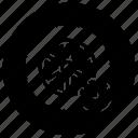 wheel, rubber tire, tire, pressure, rim, tyre, car tire icon