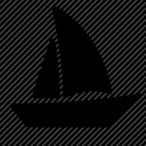 boat, sail boat, sailing, sails, transportation, travel, vehicle icon
