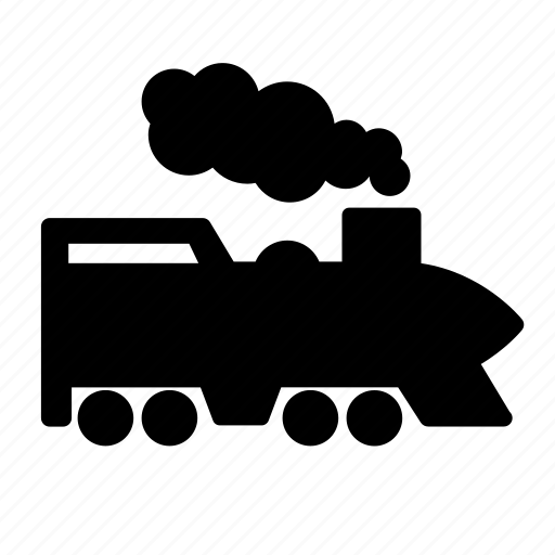 railroad, steam engine, train, transportation, travel, vehicle icon