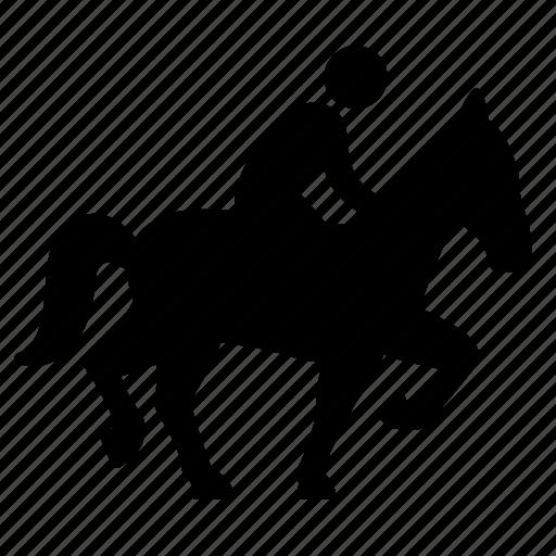 adventure, horse, horseman, man, transportation, travel, vehicle icon