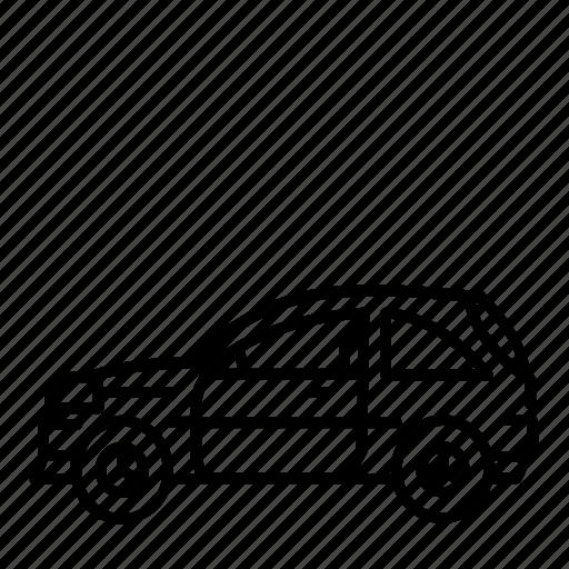 car, hatchback icon