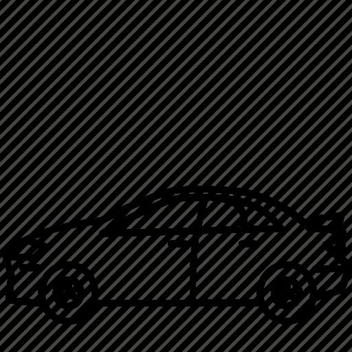 car, sedan, sport icon