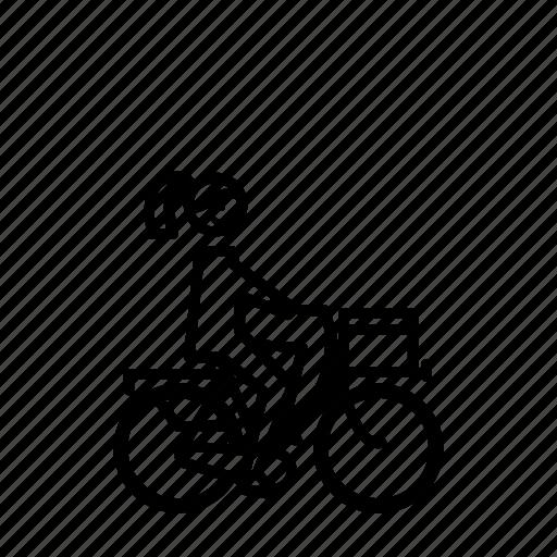 bike, cyclist, girl, teenanger, woman, young icon