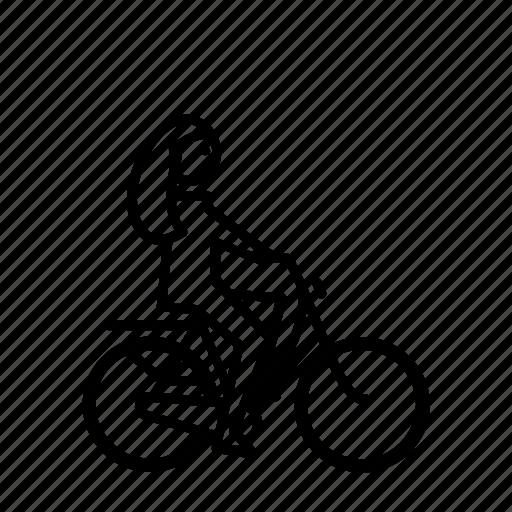 Bike Cyclist Girl Woman Icon