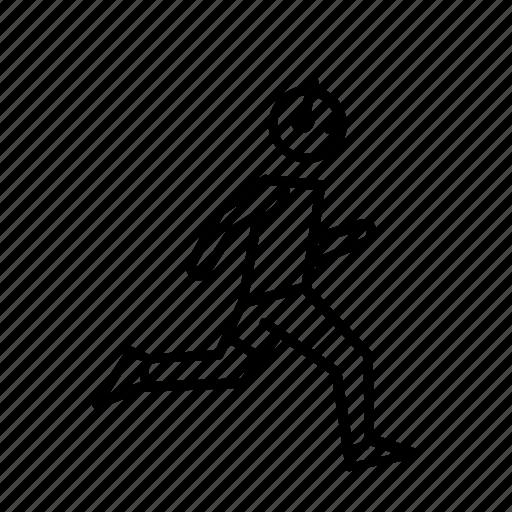 headphones, jogger, man, people, run, runner, sport icon