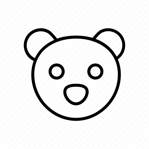animal, bear, cartoon, children, forest, kids, teddy icon